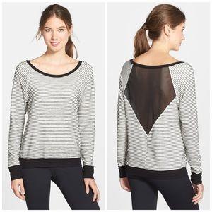 Split59 Blair Mesh Back Scoop Neck Pullover Size L